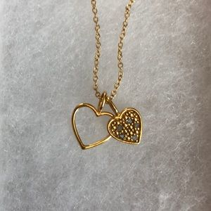 Jewelry - 1/10th DOUBLE HEART ❤️ PENDANT